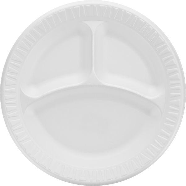 "Dart 9"" Foam Compartment Plates"