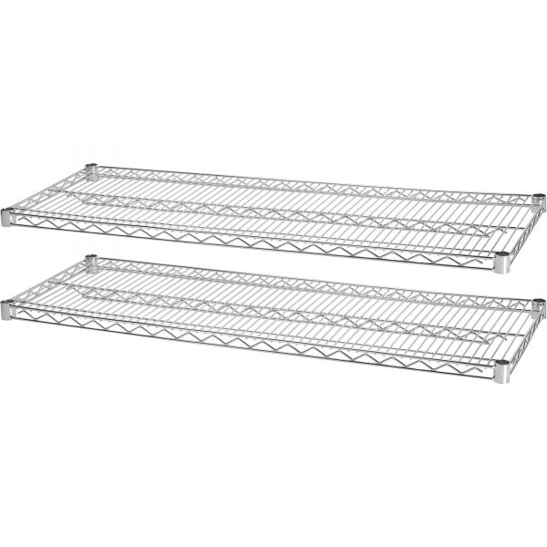 Lorell Industrial Wire Shelving Starter Extra Shelves