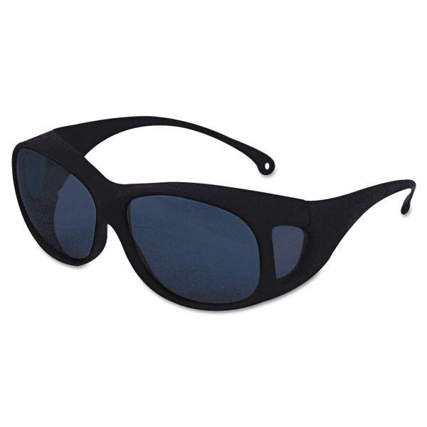 Jackson Safety* V50 OTG Safety Eyewear, Black Frame, Shade 5.0 IR/UV Lens