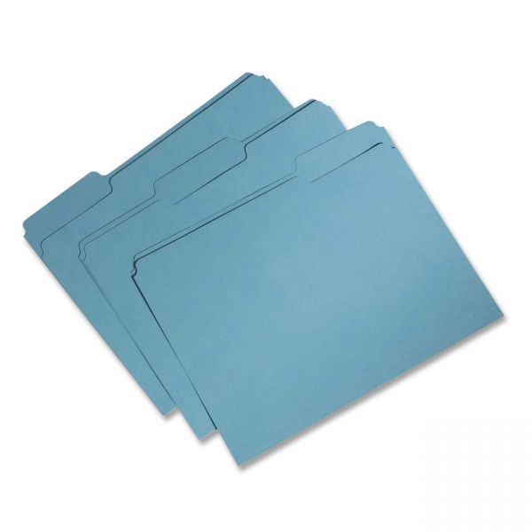 Skilcraft Recycled Blue Colored File Folders