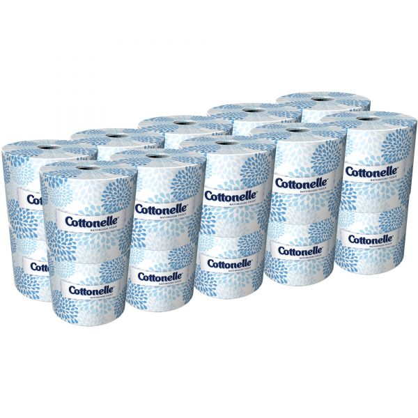 Cottonelle Toilet Paper, 2-Ply, White, 4 1/10 x 4 Sheet, 451 Sheets/Roll, 20 Rolls/Carton