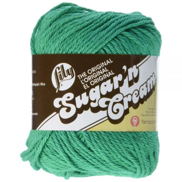 Lily Sugar'n Cream Yarn - Mod Green