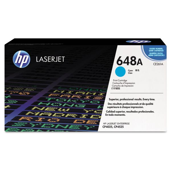 HP 648A Cyan Toner Cartridge (CE261A)