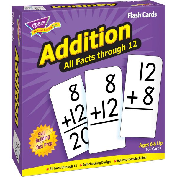 Trend Addition all facts through 12 Flash Cards