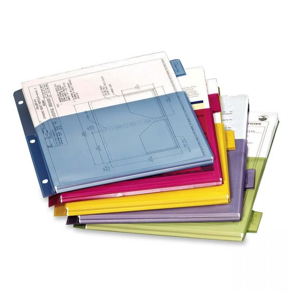 Cardinal Poly Expanding Pocket Index Dividers, 5-Tab, Multi-color Tab, Letter, 1 Set