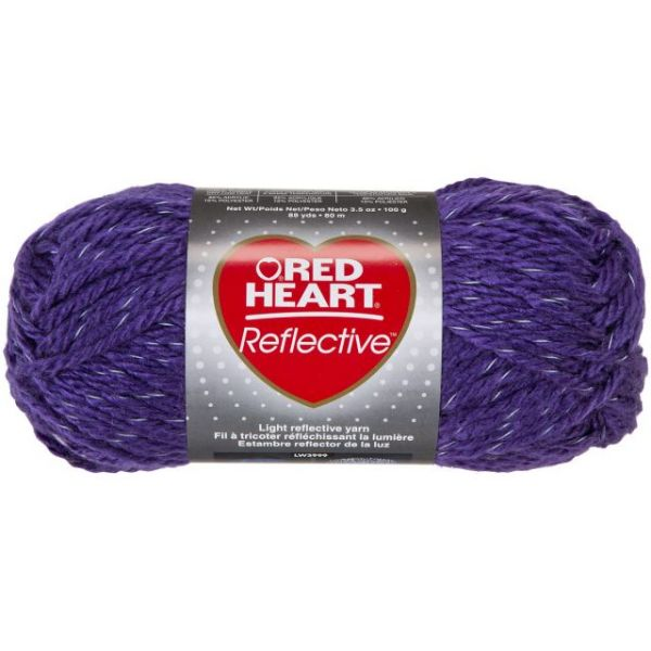 Red Heart Reflective Yarn - Purple
