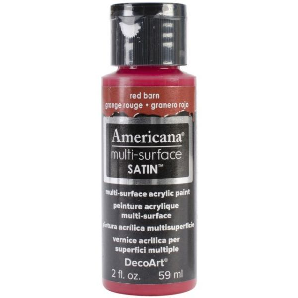 Deco Art Red Barn Americana Multi-Surface Satin Acrylic Paint