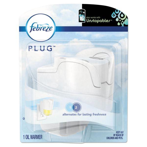 "Febreze PLUG Air Freshener Warmer, Beige, 5""w x 2 3/5""d x 6 1/2""h, Plastic, 5/Carton"