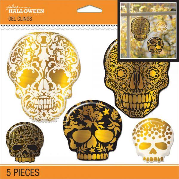 Jolee's Halloween Gel Clings 5/Pkg
