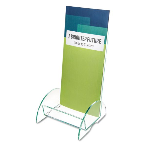 deflect-o Euro-Style Docuholder Leaflet Display Rack, Clear