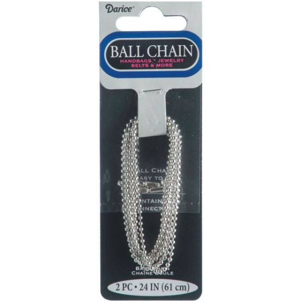 "Ball Chain 1.8mmX24"" 2/Pkg"