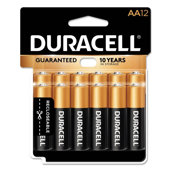 Duracell CopperTop Alkaline Batteries, AA, 12/PK