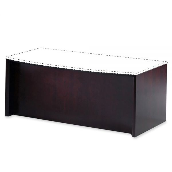 Tiffany Industries Corsica Series Bow Front Desk Base, 31-1/2w x 2d x 28-3/4h, Mahogany