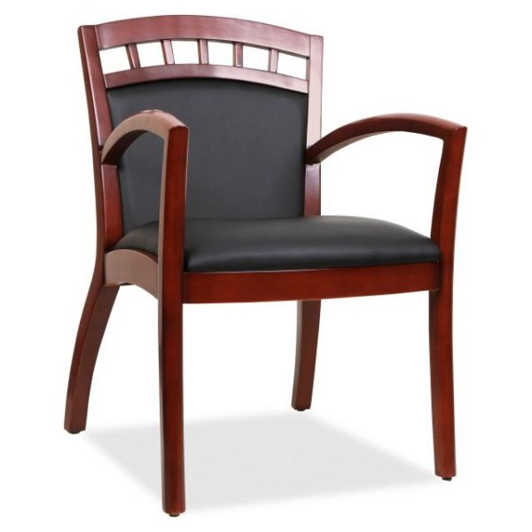 Lorell Crowning Accent Wood Guest Chair