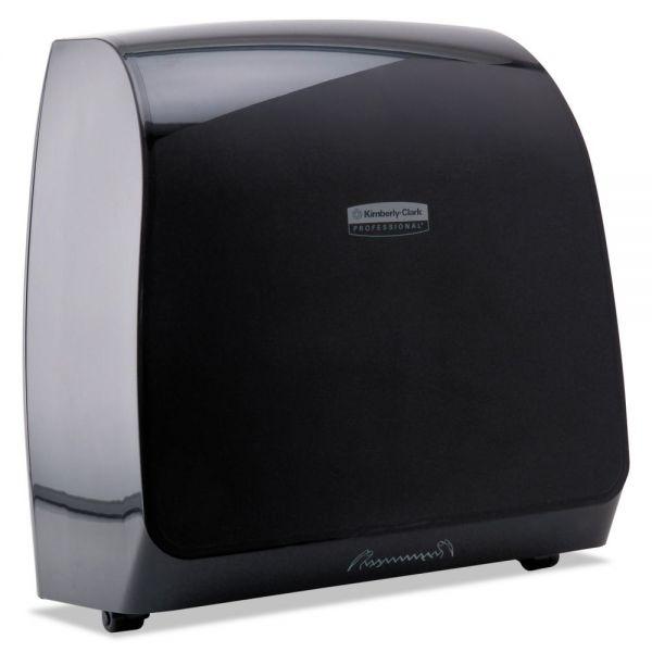 Kimberly-Clark Professional* Slimroll MOD Touchless Manual Towel Dispenser, 13 x 7 1/5 x 12 3/5, Black