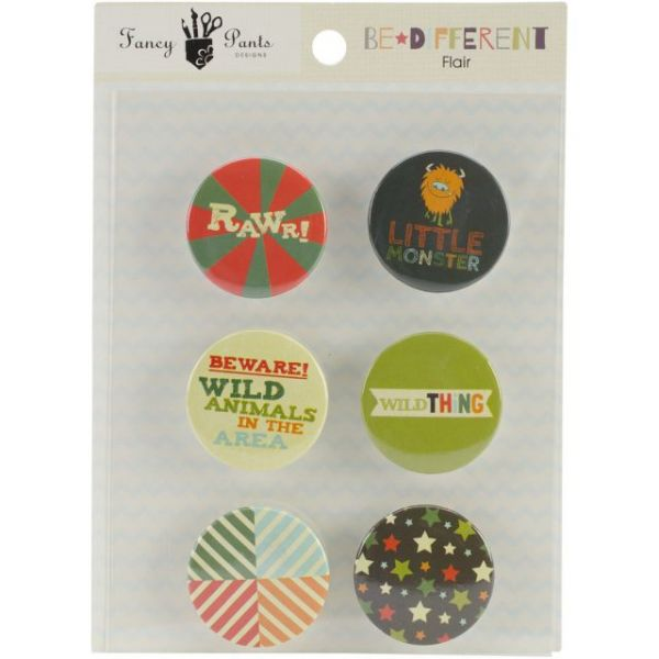 Be Different Flair Embellishments 6/Pkg
