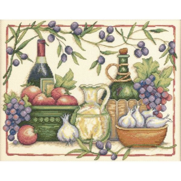 Tuscan Flavors Counted Cross Stitch Kit
