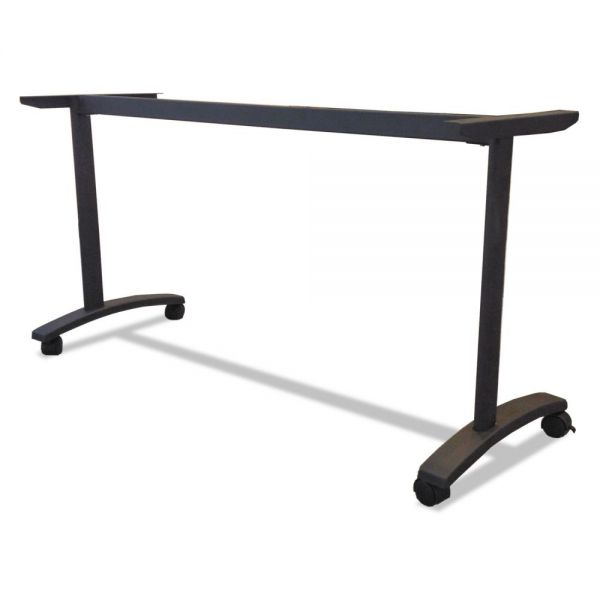 Alera Alera Valencia Series Training Table T-Leg Base, 58w x 19-3/4d, Black
