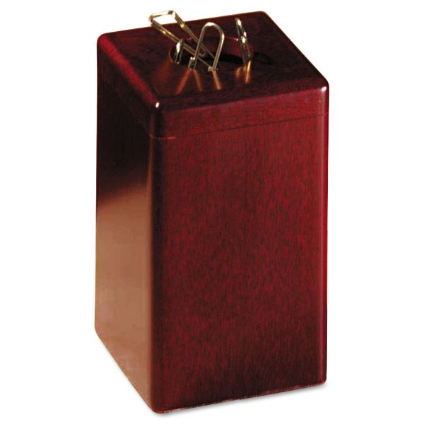 Rolodex Wood Tones Paper Clip Holder