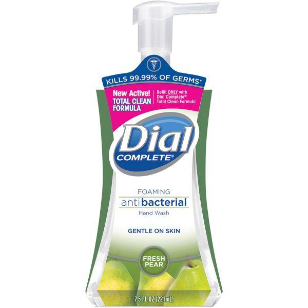 Dial Antibacterial Foaming Hand Wash, Fresh Pear, 7.5oz Pump Bottle