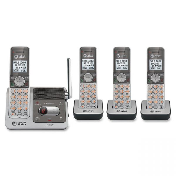 AT&T CL82401 Standard Phone - DECT - Silver, Black