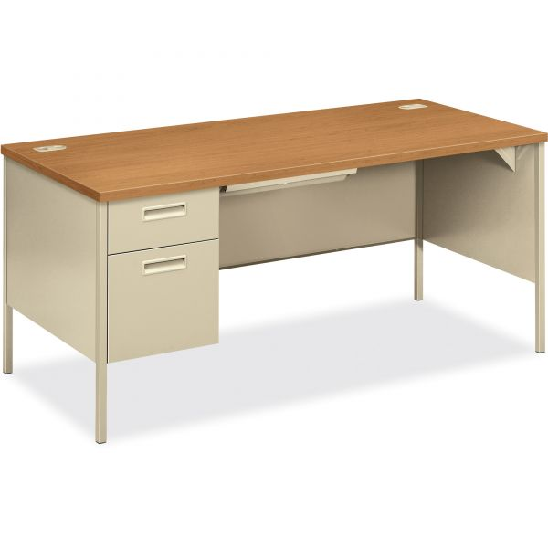 HON Metro Classic Left Pedestal Computer Desk