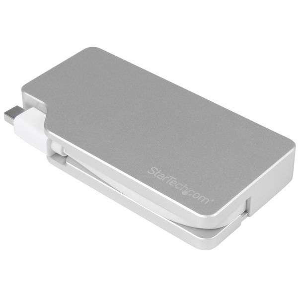 StarTech.com Aluminum Travel A/V Adapter: 3-in-1 Mini DisplayPort to VGA, DVI or HDMI - mDP Adapter - 4K