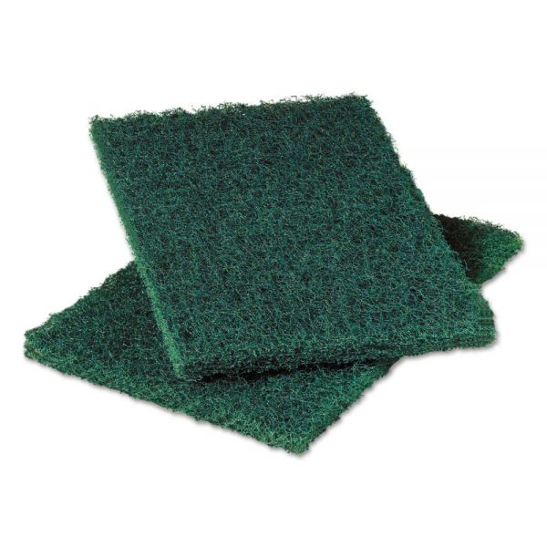 Scotch-Brite PROFESSIONAL Heavy-Duty Commercial Scouring Pad 86, Dark Green, 6 x 9, 6/Pack, 10 Pack/Carton