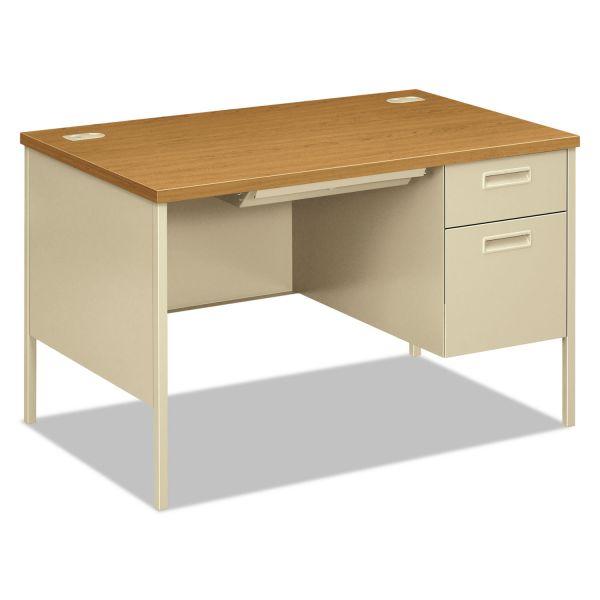 "HON Metro Classic Compact Right Pedestal Desk | 1 Box / 1 File Drawer | 48""W"
