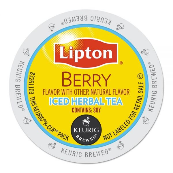 Lipton Berry Iced Herbal Tea K-Cups