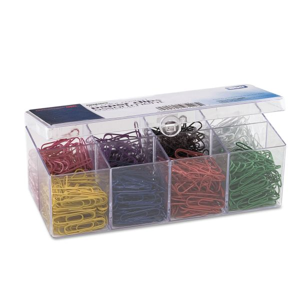 Officemate #2 Plastic-Coated Paper Clips