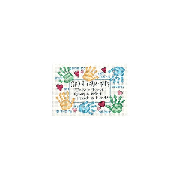 Dimensions Grandparents Touch A Heart Counted Cross Stitch Kit