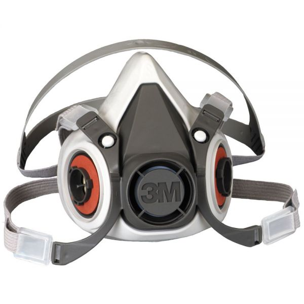 3M Half Facepiece Respirator 6000 Series, Reusable, Medium