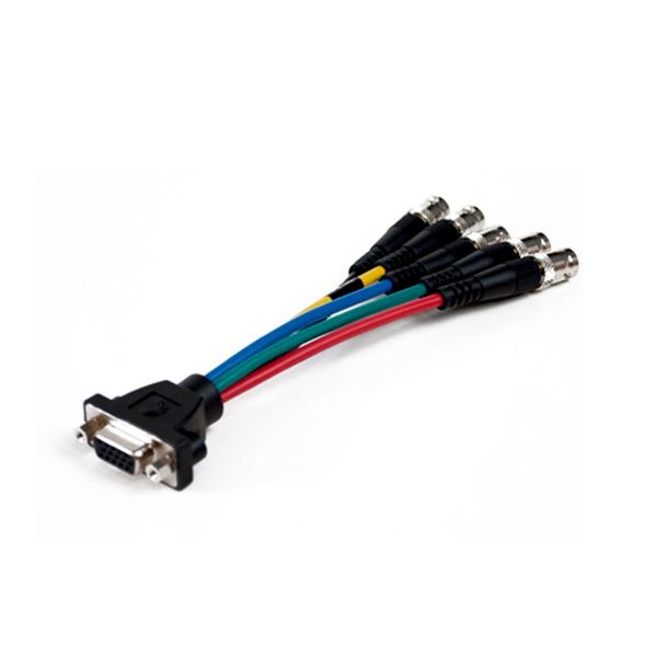 Comprehensive Pro AV/IT Series low-profile VGA HD 15 jack to 5 BNC jacks cable 1ft.