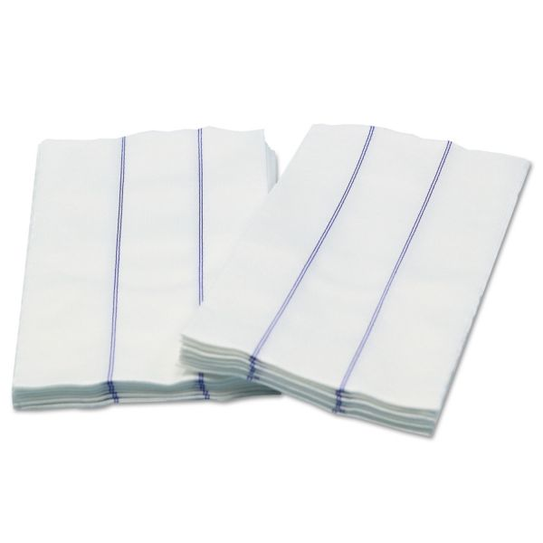 Cascades Busboy Linen Replacement Towels, White/Blue, 13 x 24, 1/4 Fold, 72/Carton