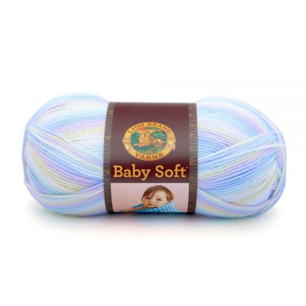 Lion Brand Baby Soft Yarn - Pastel Print