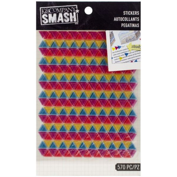 SMASH Neon Triangle Stickers 2 Sheets/Pkg