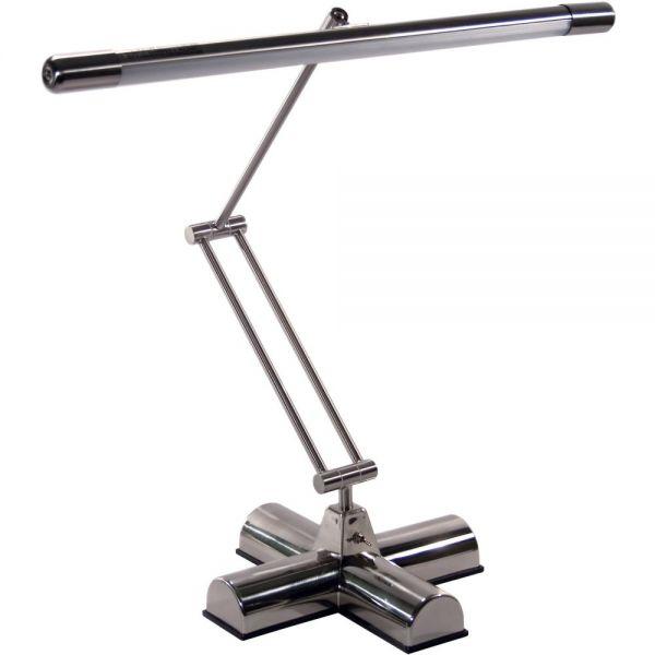 """Ledu Full Spectrum Adjustable Desk Lamp, Brushed Steel, 20"""" High"""