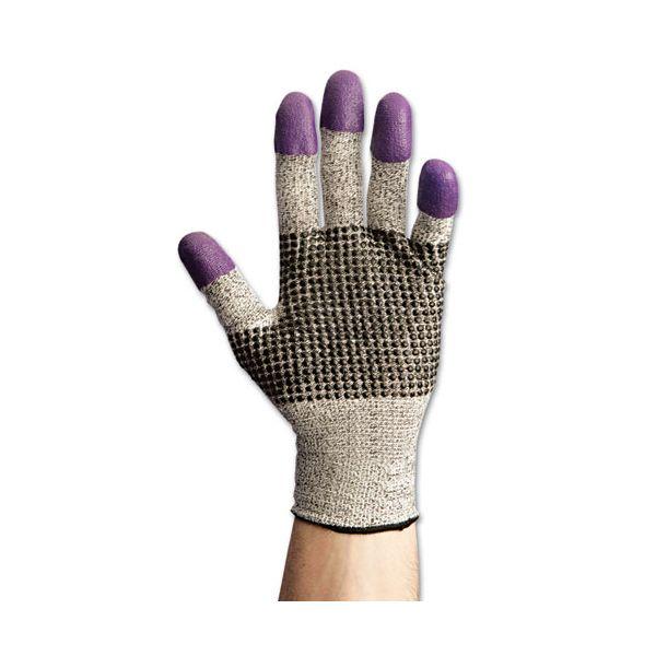Jackson Safety* G60 Purple Nitrile Gloves, 230 mm Length, Medium/Size 8, Black/White, 12 Pair/CT