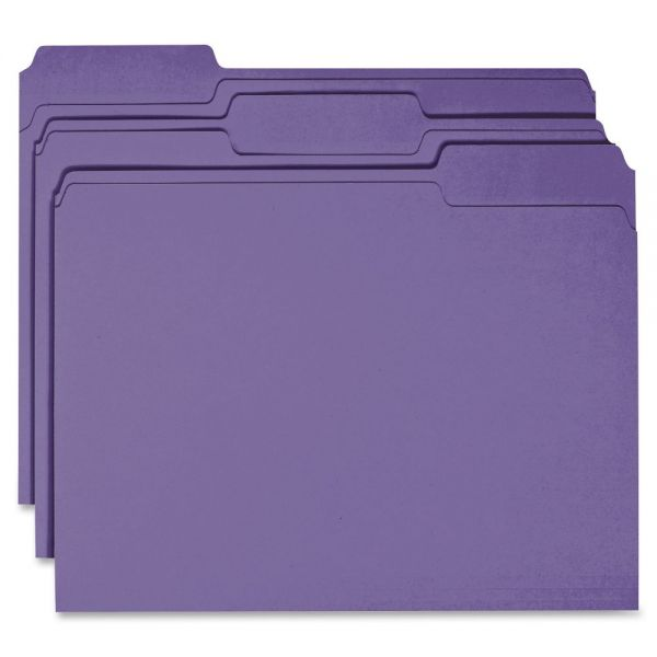 Business Source Purple Colored File Folders
