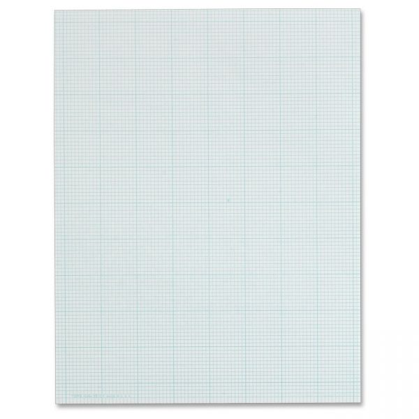 TOPS 10x10 Grid White Cross Section Pad - Letter