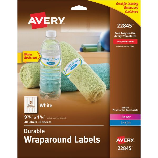 Avery Durable Wraparound Labels