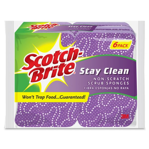 Scotch-Brite Stay Clean Non-Scratch Scrub Sponges