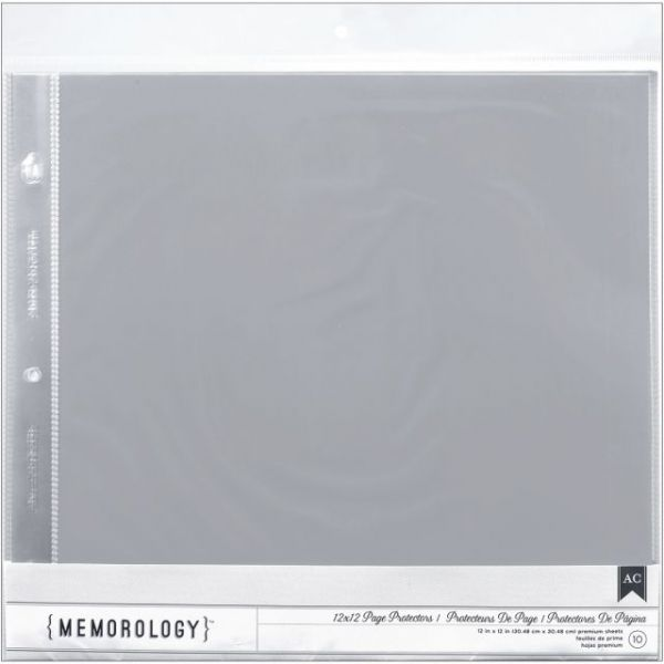 "Page Protectors Top-Loading 12""X12"" 10/Pkg"