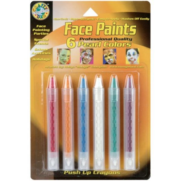 Face Paint Push-Up Crayons 6/Pkg