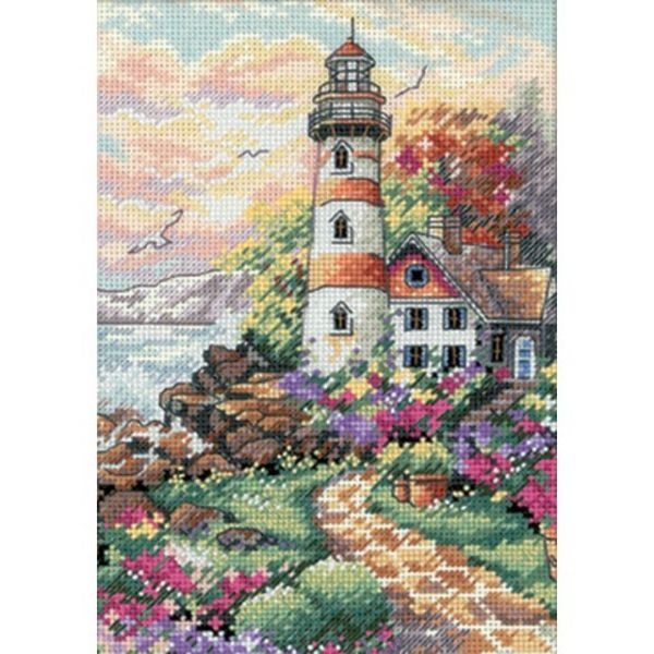 Dimensions Gold Petite Beacon At Daybreak Counted Cross Stitch Kit