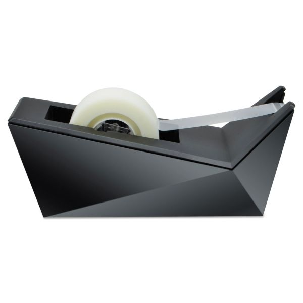 """Scotch Facet Design One-Handed Dispenser, with 3/4 x 350 Tape Roll, 1"""" Core, Black"""