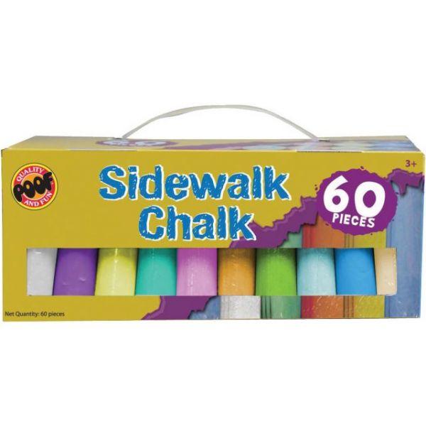 Jumbo Sidewalk Chalk 60/Pkg