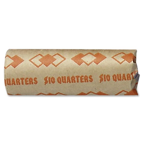 PM Company Preformed Tubular Coin Wrappers, Quarters, $10, 1000 Wrappers/Carton