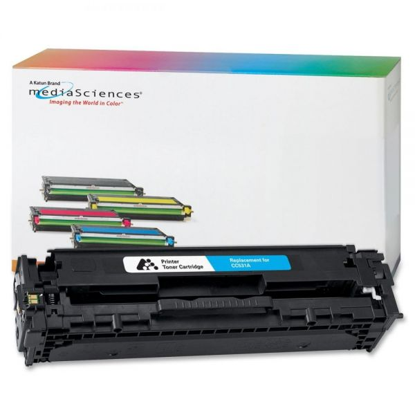 Media Sciences Remanufactured HP 304A Cyan Toner Cartridge